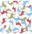 Deer seamless pattern template EPS10 vector image vector image