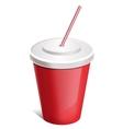 cup soda vector image vector image