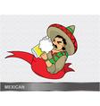 cartoon mexican vector image vector image