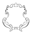 baroque architectural ornamental decorative frame vector image