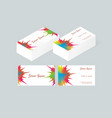 business card template 3 vector image