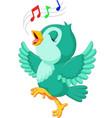 cute bird singing vector image