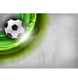 football background green vector image