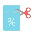 scissors cut for a coupon code vector image