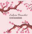 springtime japanese traditional background vector image