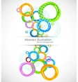 Colorful background with circles vector image vector image