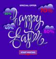 easter egg sale banner background template 5 vector image