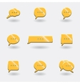 icons chat vector image vector image