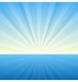 Sunburst Background Cover Template vector image