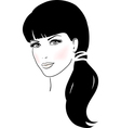 Beautiful Cute Girl Face vector image