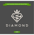 Diamond with the letter S and flat crown vector image