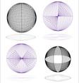 globe spheres vector image vector image