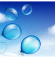blue balloons vector image vector image