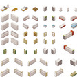 isometric supermarket equipment vector image