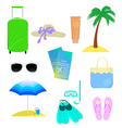 The attributes of summer vacation vector image