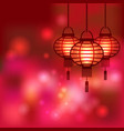 Chinese lantern blurred background vector image