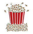 color background with popcorn container vector image
