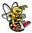 hornet mascot vector image