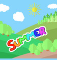 sunny day on a clearing in the forest vector image