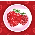swirly raspberry vector image