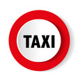 taxi icon on red vector image