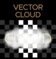 white cloud cloud vector image