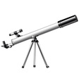 White telescope on tripod vector image