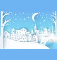 winter landscape blue white vector image