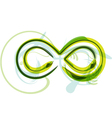 Green letter symbol vector image vector image