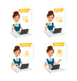 woman buys clothes searchorderpaymentdelivery vector image