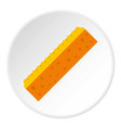 orange sponge for cleaning icon circle vector image