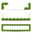 Christmas banners vector image vector image