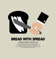 Bread with Spread vector image