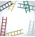 ladders background vector image vector image