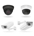 surveillance cameras 07 vector image vector image