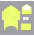 envelope templates vector image