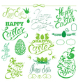 easter calligraphy set 380 vector image