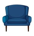 A blue cushion chair vector image