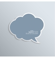 Abstract background with paper speech bubble vector image