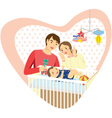 baby family heart vector image