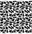 background with cats collection silhouette vector image