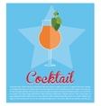 cocktail mint leaf olive star background vector image