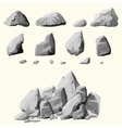 Gray stones set vector image