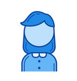 hr manager line icon vector image