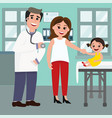 pediatrician doctor and the vector image