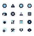 setting icons set vector image