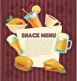 snack menu vector image