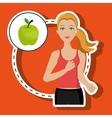 woman run sport health vector image
