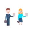 Job candidates people vector image