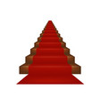 stairs covered with red carpet vector image